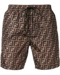 Fendi Shorts con stampa - Multicolore