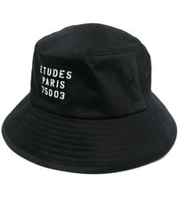 Etudes Studio ロゴ バケットハット - ブラック