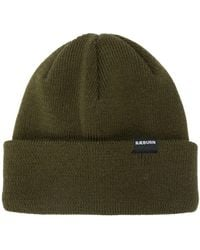 Raeburn Ribbed-knit Logo Patch Beanie - Green