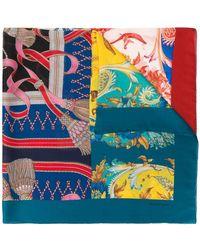 Ferragamo - Printed Cashmere Shawl - Lyst