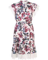 Erdem Lalique Rose Blossom ドレス - ホワイト