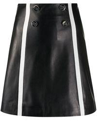 Sandro Button Detail Skirt - Black
