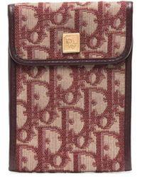 Dior 1970s プレオウンド Oblique パターン チェックブックホルダー - マルチカラー