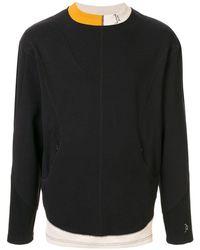 A_COLD_WALL* コントラストパネル スウェットシャツ - ブラック