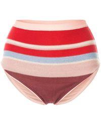 Suboo Midsummer Knitted Bikini Bottoms - Red