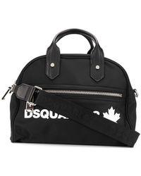 DSquared² Logo Printed Bowling Bag - Black