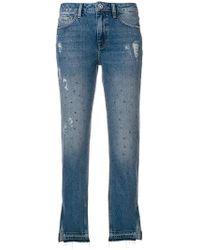 Liu Jo - Cropped Flared Jeans - Lyst