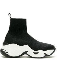 Emporio Armani High-top Sock Sneakers - Black