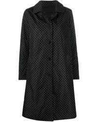 Aspesi ポルカドット シングルコート - ブラック