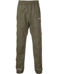 READYMADE Side Stripe Track Pants - グリーン