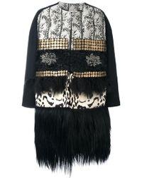 Antonio Marras - Oversize Fur Trim Coat - Lyst