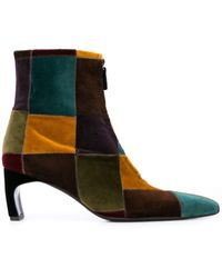 Rosetta Getty Patchwork Ankle Boots - Multicolour