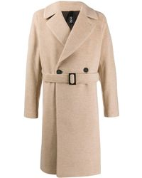 Hevò Double Breasted Coat - Natural