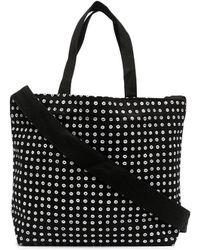 10 Corso Como Logo-print Small Canvas Tote Bag - Black
