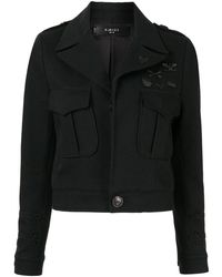 Amiri クロップド ジャケット - ブラック