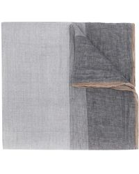 Brunello Cucinelli Striped Scarf - Grey