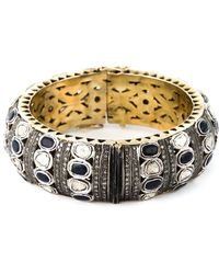 Gemco Diamond Embellished Bangle - Metallic