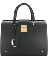 Thom Browne Pebbled Leather Mr. Thom Bag - Black