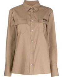 MSGM Рубашка С Карманами - Многоцветный