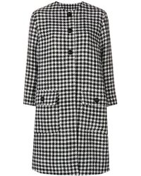 Dolce & Gabbana - Houndstooth Patterned Coat - Lyst