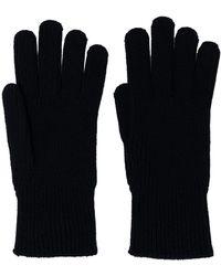 Moncler Logo-patch Wool Gloves - Blue