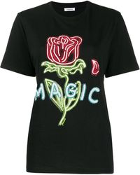 P.A.R.O.S.H. Camiseta Magic con detalles - Negro