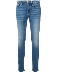 FRAME Tief sitzende 'Garland' Skinny-Jeans - Blau