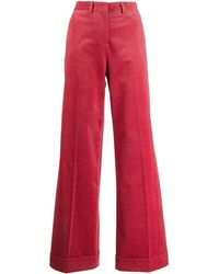 PS by Paul Smith Flared Corduroy Pants - Pink