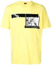 DIESEL A3sth3thic Tシャツ - イエロー