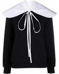 Patou Sweatshirt mit abnehmbarem Kragen - Schwarz