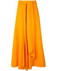 Carolina Herrera フレアパンツ - オレンジ