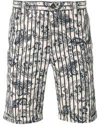 Incotex - Paisley Stripe Shorts - Lyst