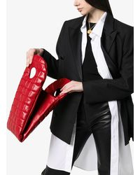 A.W.A.K.E. MODE Bo Quilted Clutch Bag - Red