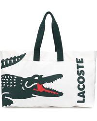 Lacoste Draagtas Met Logoprint - Meerkleurig