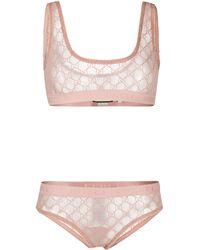 Gucci GG Pattern Lingerie Set - Pink