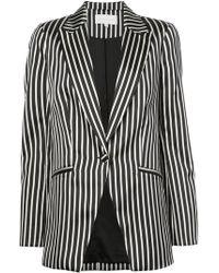Michelle Mason - Striped Print Jacket - Lyst