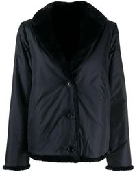 Aspesi Reversible Faux Fur Jacket - Black