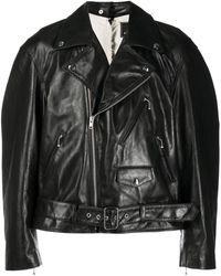 Marni Ripped Biker Jacket - Black
