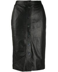 Karl Lagerfeld Falda de talle alto - Negro