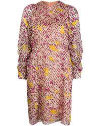 Lala Berlin Abstract Print Midi Dress - Pink
