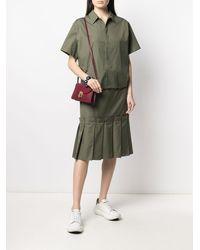 Marni Многослойное Платье-рубашка - Зеленый