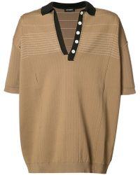 Raf Simons Knitted Polo Shirt - Brown