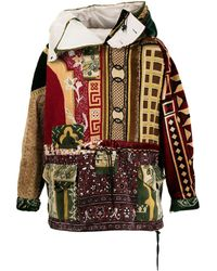 Children of the discordance Patterned Hooded Jacket - Multicolour