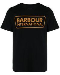 Barbour ロゴ Tシャツ - ブラック