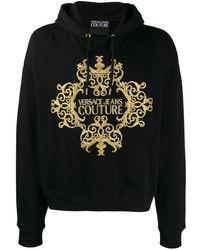Versace Jeans Couture Hoodie Met Logo - Zwart