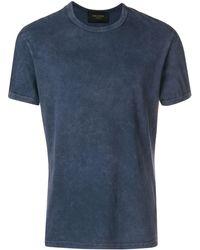 Mr & Mrs Italy Back-print T-shirt - Blue