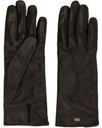 Dolce & Gabbana Logo Detail Short Gloves - Black