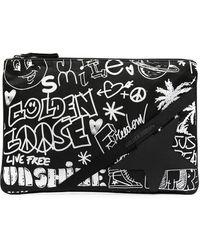 Golden Goose Deluxe Brand グラフィティ クラッチバッグ - ブラック