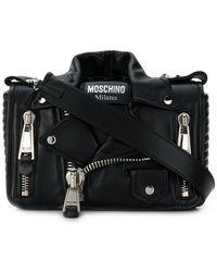 Moschino - Medium Biker Shoulder Bag - Lyst