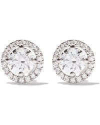 De Beers - 18kt White Gold My First Aura Diamond Stud Earrings - Lyst